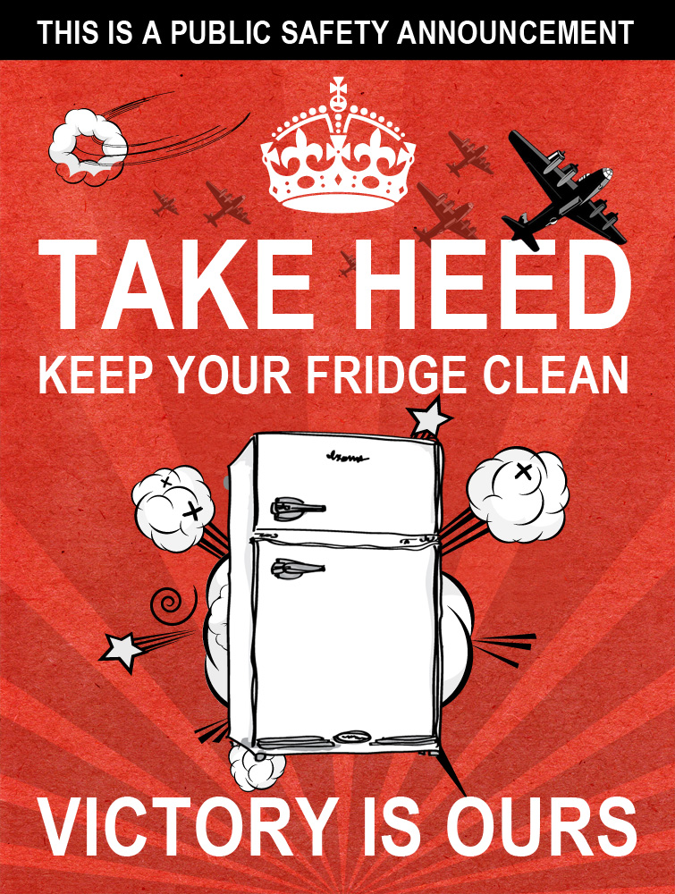 Take Heed - Keep Your Fridge Clean