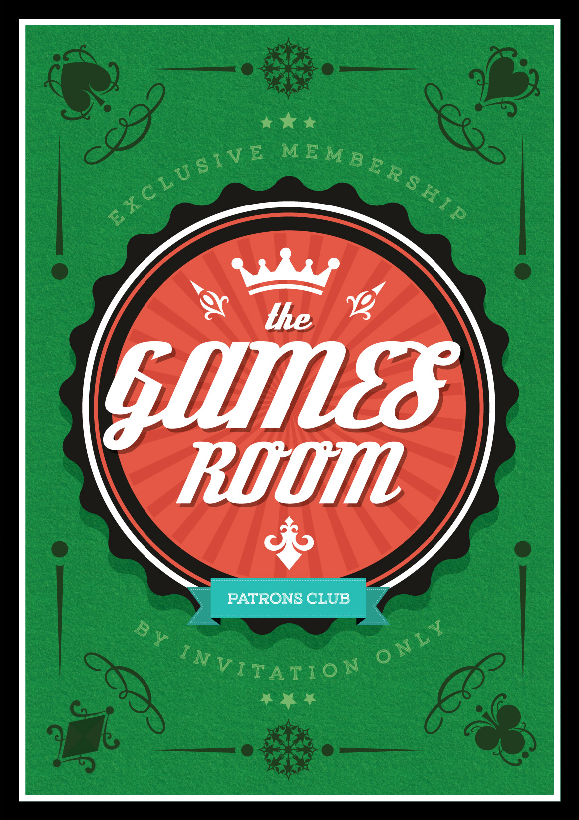 Retro Games Room Poster